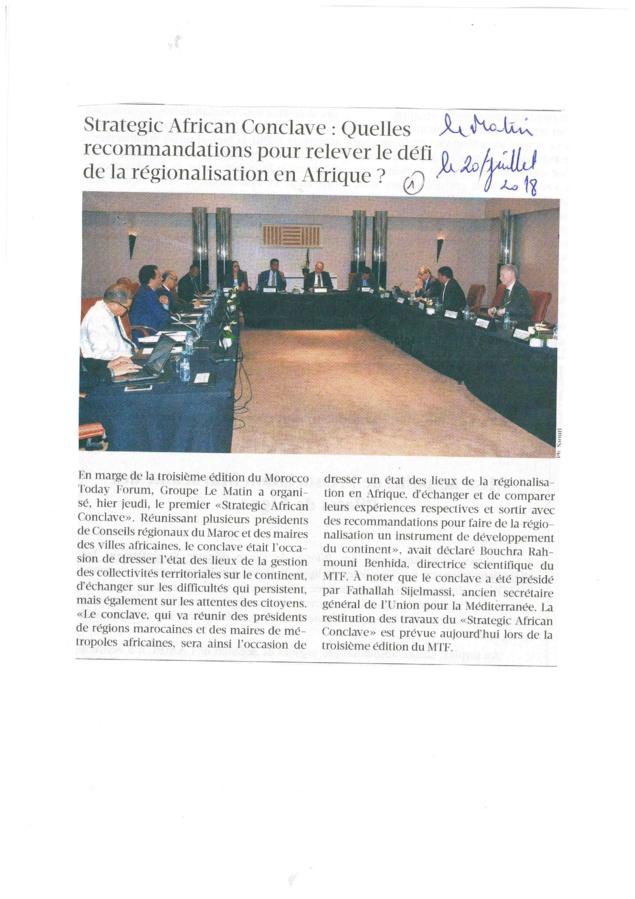 PRESSE REGION CASABLANCA SETTAT