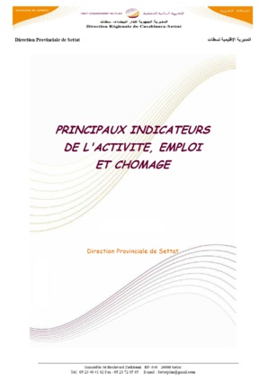 Activité emploi chômage