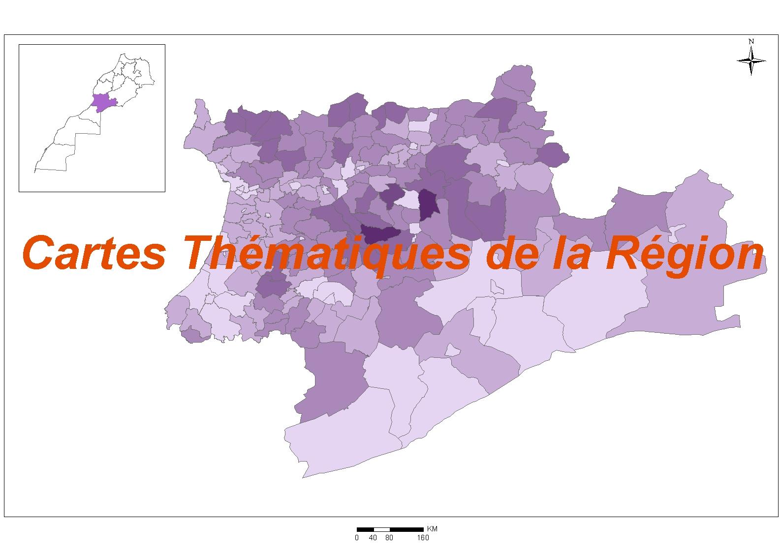 Cartes thématiques de la région : Langues