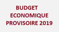 Budget économique prévisionnel 2019