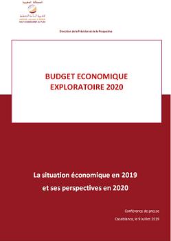 Budget Economique Exploratoire 2020 : La situation économique en 2019  et ses perspectives en 2020