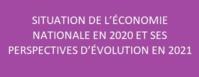 Note d'information relative à la situation de l'économie nationale en 2020 et ses perspectives d'évolution en 2021 (Note de synthèse du budget économique exploratoire 2021)