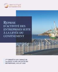 Reprise d'activité des entreprises suite à la levée du confinement 2ème enquête sur l'impact de la Covid-19 sur l'activité des entreprises, juillet 2020