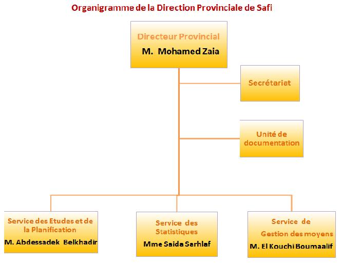 Haut Commissariat au Plan, Direction Provinciale de Safi: organisation, missions et attributions