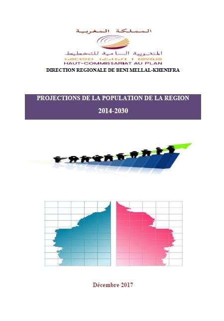 Projections de la population de la région Béni Mellal- Khenifra 2014-2030