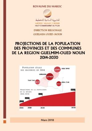 PROJECTIONS DE LA POPULATION  DE LA REGION GUELMIM.  2014-2030
