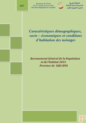 caractéristiques démaographiques et socio économiques RGPH 2014 Province de SIDI IFNI