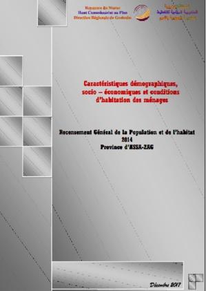 Caractéristiques démographiques et socio économiques Province d'ASSA-ZAG RGPH 2014