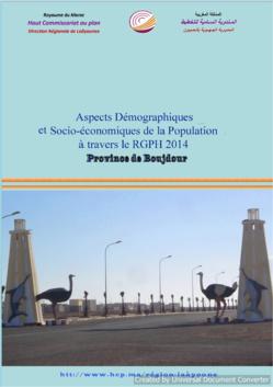 Aspects Démographiques et Socio-économiques de la Population à travers le RGPH 2014 Province de Boujdour.