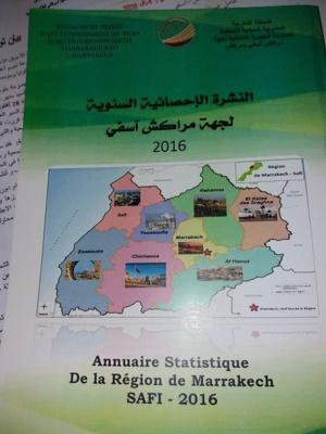 Annuaire statistique de la région de Marrakech-Safi  2016