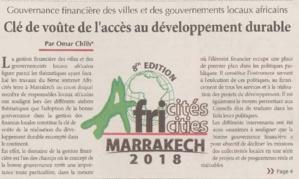 Gouvernance financière des villes et des gouvernements locaux africains Clé de voûte de l'accès au développement durable