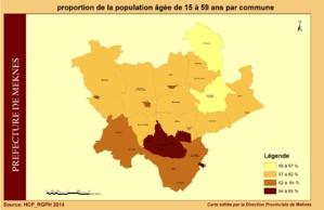 population âgée entre 15-59 ans