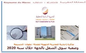 Note d'information de la direction régionale du Plan de Tanger sur les principales caractéristiques du matché de travail dans la région 2020
