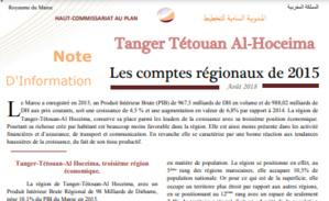 Note d'information sur les comptes régionaux 2015