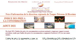 Note IPC Août 2021 Tanger_Tétouan_Al Hoceima (Base 100:2017) (consultable en trois versions: arabe, française et anglaise)